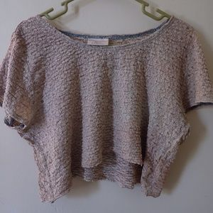 Bohemian Crop Top Burn Out Wash Out Festival Chic